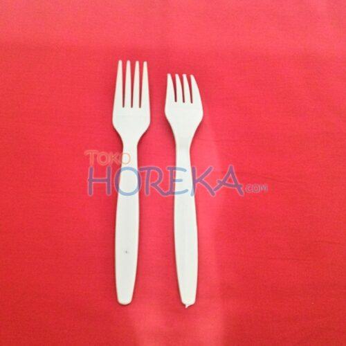 garpu plastik putih susu biasa