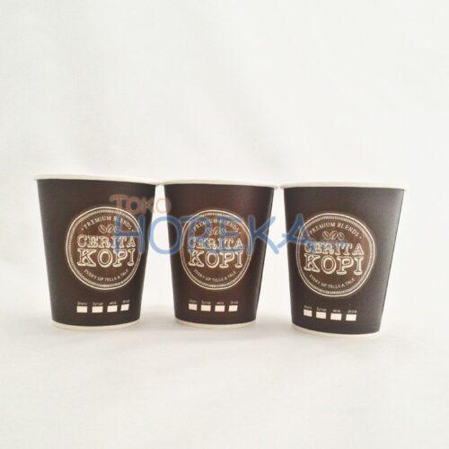 Hot Paper Cup 8 oz Cetak Logo 4 Warna