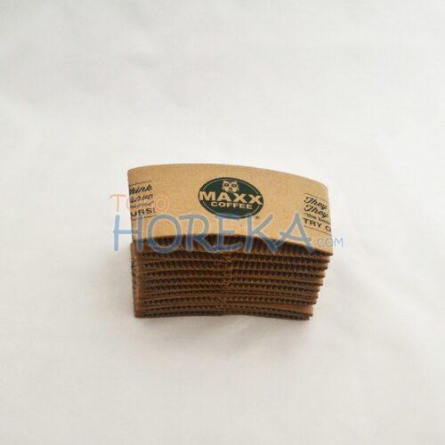 Sleeve / Jacket Hot Paper Cup 8 Oz Cetak Logo 1 Warna
