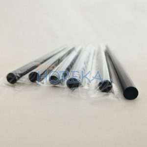 Black Straight Straw 7mm x 20cm Wrap Film