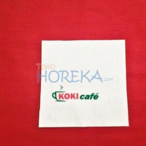 tissue cocktail napkin cetak logo 2 warna